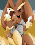 1girl anthro bogart12346 furry lopunny nintendo pokémon video_games
