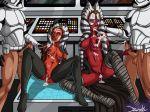 ahsoka_tano clone_wars clonetrooper jzerosk_(artist) shaak_ti star_wars togruta