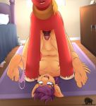 ass big_macintosh_(mlp) feet friendship_is_magic furry laying_down missionary my_little_pony panties pussy scootaloo sex small_breasts soles toes