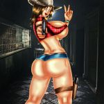 ass big_ass big_breasts breasts claire_redfield devilmaycrydant devilmaycrydant_(artist) resident_evil resident_evil_revelations_2