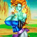 big_breasts breasts devilmaycrydant devilmaycrydant_(artist) dragon_ball_z zangya