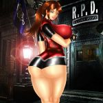 ass big_ass big_breasts breasts claire_redfield devilmaycrydant devilmaycrydant_(artist) resident_evil resident_evil_2