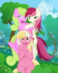 ass cover friendship_is_magic group my_little_pony nipples nude outside pussy sexy