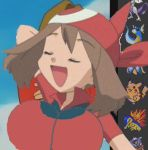 big_breasts breasts edit huge_breasts may pokemon pose smile youtube