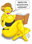ass bra breasts edna_krabappel the_simpsons