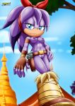 1girl areolae blue_eyes boots breasts female furry hot long_hair looking_at_viewer mobius_unleashed nipples palcomix perci_the_echidna purple_hair pussy sexy smile solo sonic sonic_boom