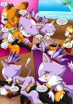 2girls blaze_the_cat furry marine_the_raccoon mobius_unleashed multiple_girls shadow_the_hedgehog surrender_the_booty tagme