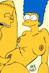 big_ass big_breasts blue_hair breasts fuck gif hair hentai incest marge_simpson mother's_duty mother_and_son nickartist the_simpsons vaginal yellow_skin
