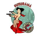 amy_wong bear-bm_(artist) futurama gun stockings tagme white_background