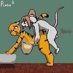 1girl 8bit all_fours animated anthro bedroom digital_media_(artwork) doggy_position feline from_behind_position furry gif male male/female mammal penetration pixel pixel_(artwork) pixelated plaga rat rodent rough_sex sex simple_background stripes tiger voluptuous