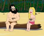 american_dad blonde blonde_hair breasts francine_smith jungle nipples stan_smith tagme topless