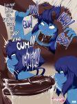 bbc blue_hair blue_skin cum deepthroat fellatio interracial jlullaby lapis_lazuli penis steven_universe