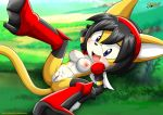 1girl breasts furry honey_the_cat mobius_unleashed sega tagme