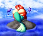 big_breasts breasts chaossabre disney gigantic_fucking_tits princess_ariel the_little_mermaid