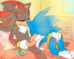 1girl anthro blush breasts crossgender fellatio furry gif hedgehog krazyelf male mammal oral penetration penis red_eyes sega sex shadow_the_hedgehog sonic_the_hedgehog sucking