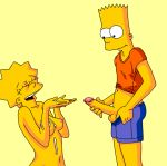 bart_simpson breasts cum gif incest lisa_simpson penis the_simpsons yellow_skin