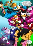 3_girls blaze_the_cat furry marine_the_raccoon mobius_unleashed shadow_the_hedgehog surrender_the_booty tagme
