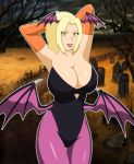 big_breasts blackangel014_(artist) breasts cosplay darkstalkers morrigan_aensland naruto tsunade