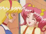 2_girls :d ^_^ aki_natsuko aki_natsuko_(cutie_honey_flash) anime babe blonde_hair closed_eyes cutie_honey cutie_honey_flash friends hot kisaragi_honey kisaragi_honey_(cutie_honey_flash) long_hair multiple_girls open_mouth pink_hair sexy smile tagme twin_tails