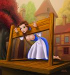 beauty_and_the_beast breasts cabroon cabroon_(artist) dangergirlfan disney nipples pillory princess_belle