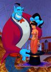 aladdin_(series) cabroon cabroon_(artist) dangergirlfan disney genie genie_(aladdin) princess_jasmine tagme