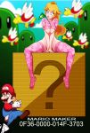 big_breasts bottomless breasts chain_chomp flag mario princess_peach super_mario_bros. under_boob youngjaerome