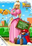 big_breasts bowser breasts cosplay dark_skin mario princess_peach skie-maree super_mario_bros.