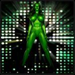 3d avengers big_breasts breasts exgemini green_hair green_skin hulk_(series) jennifer_walters marvel nipples nude she-hulk