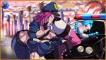 1girl anal breasts caitlyn_(lol) female/female gif group group_sex human jinx_(lol) league_of_legends licking mammal not_furry police sex shadman threesome tongue tongue_out vehicle vi_(lol) video_games