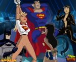 batman catwoman dc supergirl superman toon_bdsm wonder_woman