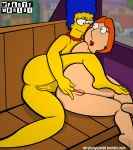 ass breast crossover family_guy fingering lois_griffin marge_simpson mcpartyworld milf pussy the_simpsons yellow_skin yuri