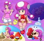 ass big_ass big_breasts breasts captain_toad:_treasure_tracker huckit_crab lentendoodle mario nipples nude princess_peach super_mario_bros. toadette wardrobe_malfunction