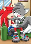 1boy 1girl animal_ears ass blue_eyes blush breasts furry girl_on_top hot mobius_unleashed palcomix sex sexy sonic tail