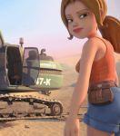 3d ass gif outdoors round_ass sand sara_lavrof shorts tad_the_lost_explorer tank_top walking