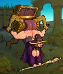 ass breasts dark_souls demien fantasy mimic monster nipples staff tongue