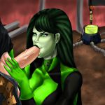 breasts fellatio gloves kim_possible penis shego