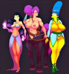 amy_wong breasts futurama marge_simpson pussy the_simpsons turanga_leela