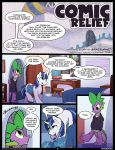 aged_up bed book braeburned clothed clothing comic comic_relief dialogue digital_media_(artwork) dragon duo english_text equine high_res horn male mammal my_little_pony my_little_pony:_friendship_is_magic pillow poster scalie shining_armor_(mlp) spike_(character) spike_(mlp) spines star_wars text unicorn window