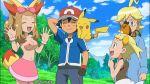 ash_ketchum bonnie citron_(pokemon) clemont cosplay cosplay edit eureka_(pokemon) fennekin gif pikachu pokecatt pokemon pokemon_xy satoshi_(pokemon) serena serena_(pokemon) topless