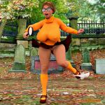 3d breasts panties pussy scooby-doo skirt socks velma_dinkley