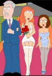 breasts carter_pewterscmidt crocsxtoons family_guy flowers huge_breasts lois_griffin meg_griffin micro_dress mini_dress nipples panties stockings suspenders wedding