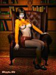 breasts leather_skirt scooby-doo socks velma_dinkley