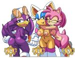 1girl amy_rose anthro areola ass avian bat big_breasts bird breasts coolblue erect_nipples furry group hedgehog mammal nipples nude pussy rouge_the_bat sega sonic_riders swallow_(bird) wave_the_swallow