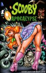 ass bent_over comic_cover daphne_blake garrett_blair garrett_blair_(artist) green_eyes heels looking_at_viewer looking_back nightie orange_hair scooby-doo see-through