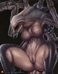 1girl 1girl alien breasts da_polar_inc evolve_(copyright) eyeless featureless_breasts monster patreon pussy spread_legs spreading teeth video_games wraith_(evolve)