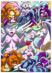 adagio_dazzle aria_blaze comic equestria_girls equestria_untamed friendship_is_magic my_little_pony princess_celestia principal_celestia rainbow_rocks sonata_dusk tagme the_dazzlings_revenge yuri