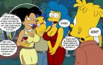 amy_wong bart_simpson big_breasts breasts cheating edit futurama marge_simpson milhouse_van_houten the_simpsons yellow_skin