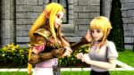 16:9_aspect_ratio 2girls 3d blonde blue_eyes extremely_large_filesize gif hair hyrule_warriors hyrule_warriors_legends kissing large_filesize linkle multiple_girls princess_zelda source_filmmaker the_legend_of_zelda yuri zelda_(hyrule_warriors)