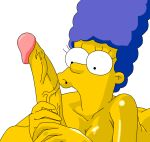 breasts gif handjob marge_simpson masturbation penis the_simpsons yellow_skin