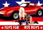 america american_flag blonde brian_gibbs_(artist) car corvette digital_media_(artwork) gun machine_gun made_with_adobe_illustrator text vector weapon